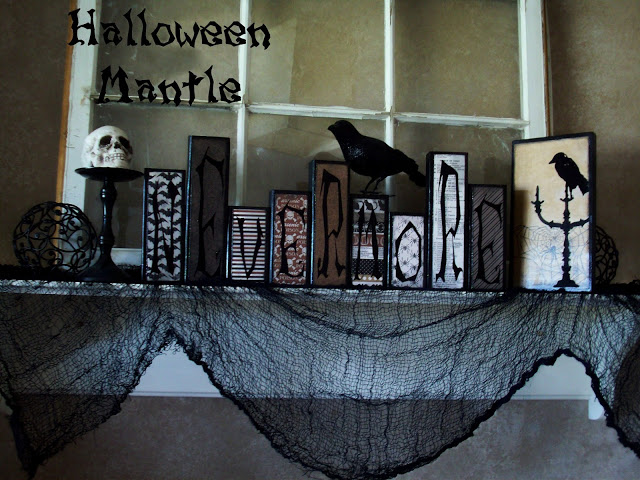 Halloween Mantle Idea