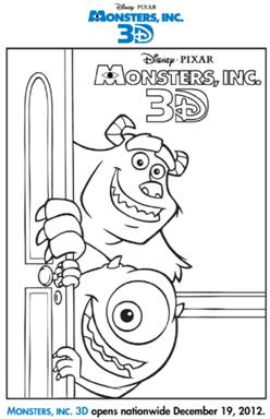 monsters in coloring pages