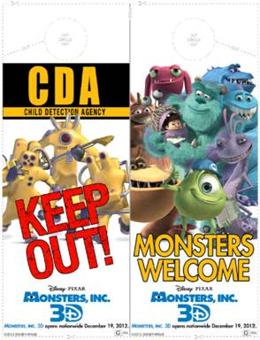 monsters inc activity sheets