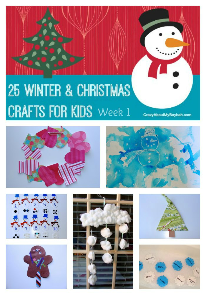 25 winter and christmas crafts for kids week 1 for Winter holiday crafts for kids