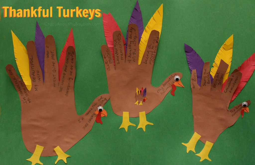 Thankful turkeys thanksgiving craft for families for Thanksgiving craft ideas for kindergarten