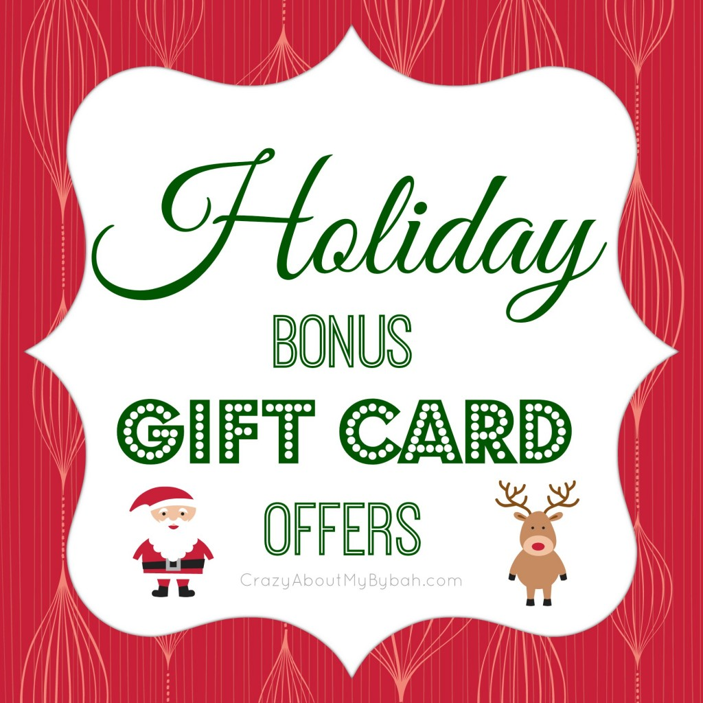 Holiday Bonus Gift Cards 2013