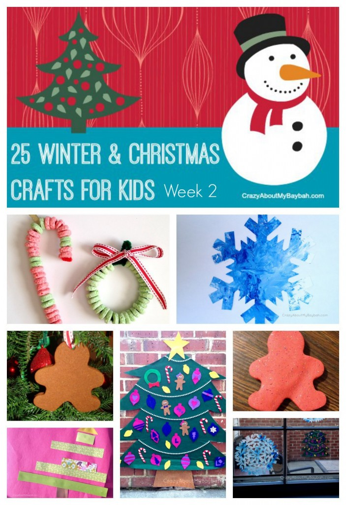 25 winter and christmas crafts for kids week 2 for Winter crafts for children