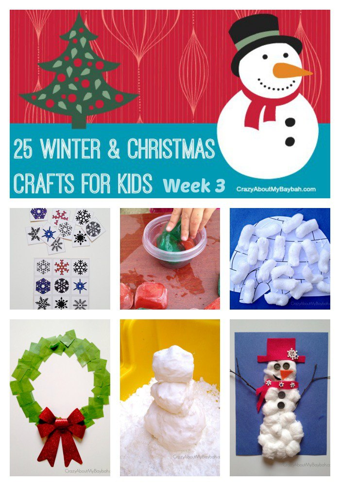 25 winter and christmas crafts for kids week 3 for Christmas crafts for toddlers to make for parents