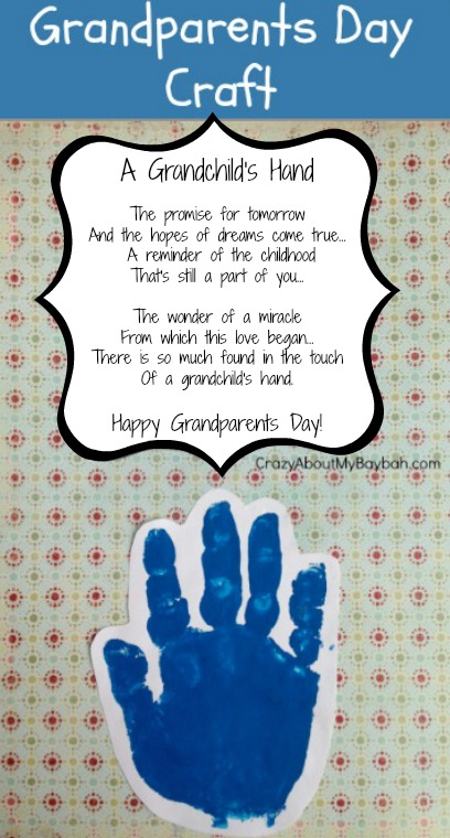 Grandparents Day Crafts For Infants